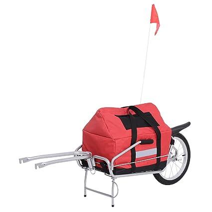 Amazon.com: aosom Single Rueda plegable bicicleta remolque ...
