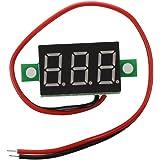 SODIAL(R)LEDミニデジタル電圧計 電圧表示 パネルメータ DC 3-30V