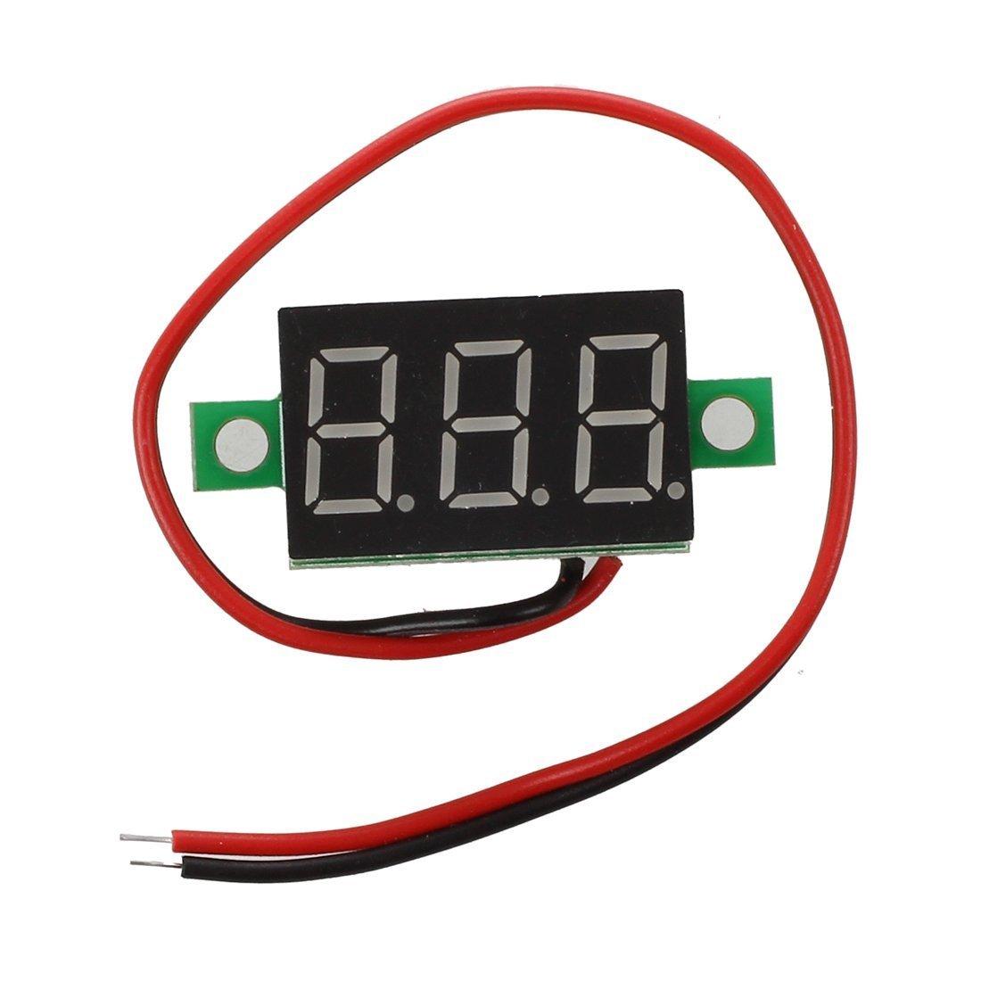 SODIAL (R) LED Mini voltimetro voltaje Pantalla Digital Panel Meter DC 3-30V SODIAL(R)