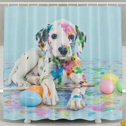 Dalmatian Bathroom Shower Curtain Waterproof Bath Decorations Decor Sets With Hooks