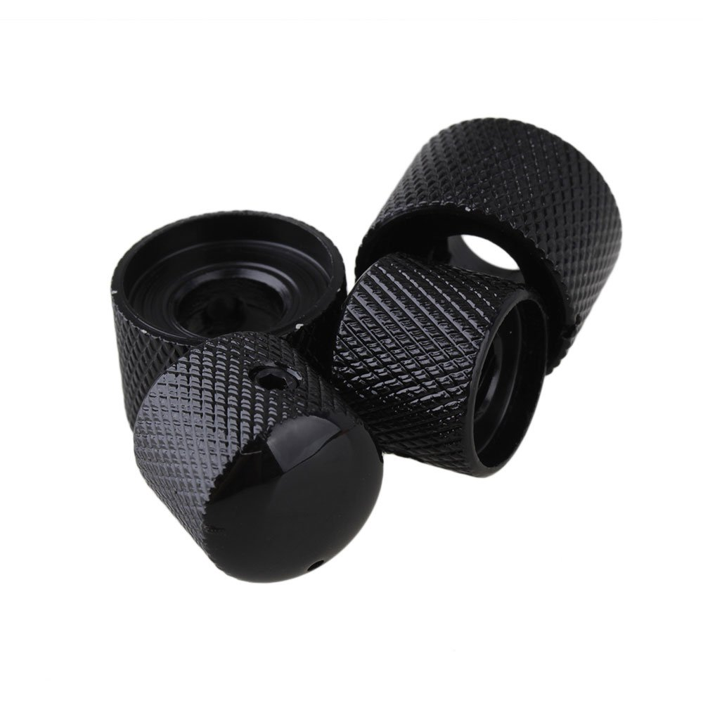 BQLZR Black Metal Dual Control Knob with Wrenches for Electric Guitar Dual Pot Pack of 100 by BQLZR (Image #3)