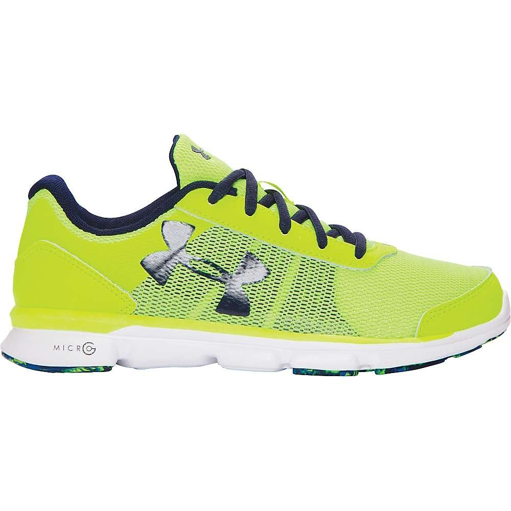 Under Armour Boys' UA BGS Micro G Speed Swift Shoe High - Vis Yellow / White / Midnight Navy 6 by Under Armour