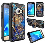 Galaxy Luna Case, Express 3 Case, J1 2016 Case, Elegant Choise Dual Layer Full Body Protective Kickstand Case Cover with Belt Clip Holster Case for Samsung Galaxy Luna /J1 2016/Amp 2 (Gear Wheel) offers
