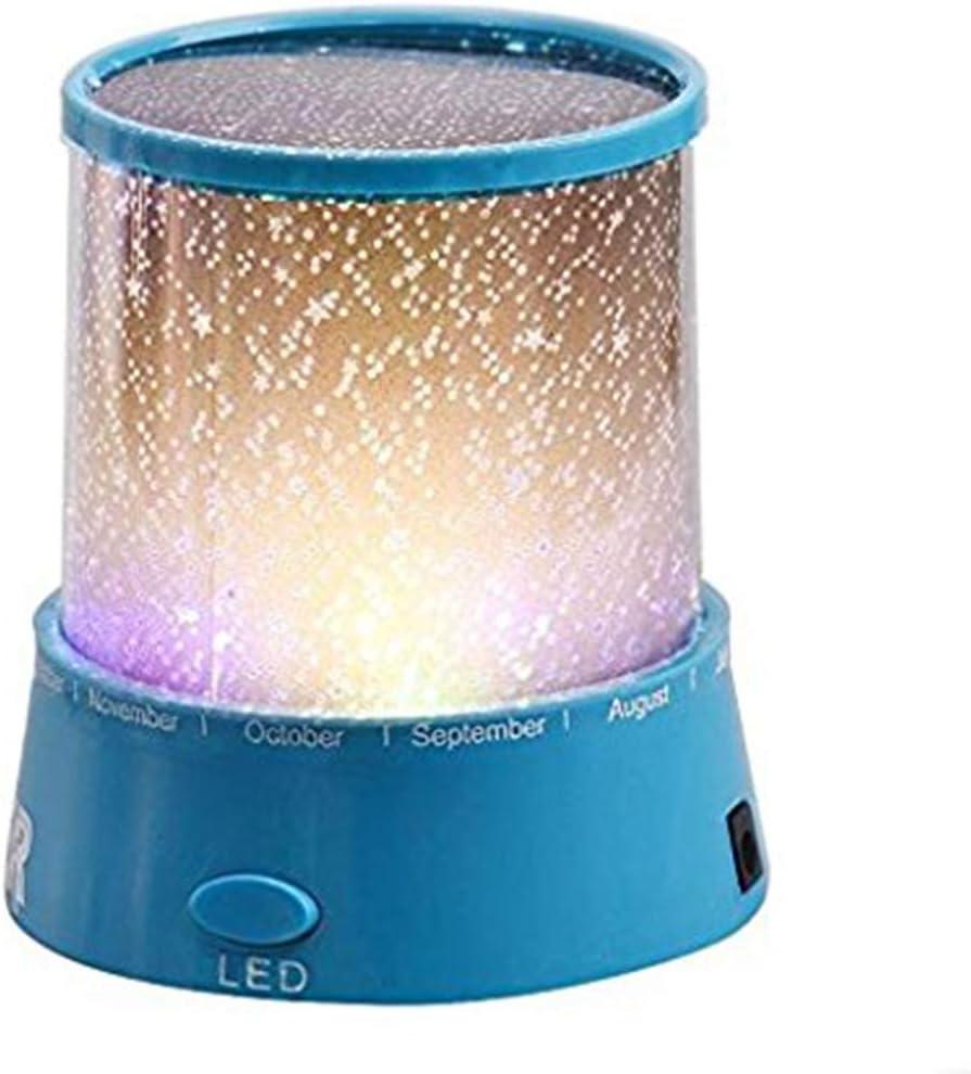 Azul Yissma L/ámpara de proyector Starry Sky//Mini proyector de Estrellas//con Cable USB//LED L/ámpara de proyector de luz Nocturna L/ámpara de Noche para ni/ños Dormitorio Decoraci/ón de la casa