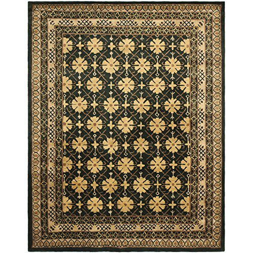 Apricot Wool - Safavieh Classic Collection CL303C Handmade Traditional Oriental Green and Apricot Wool Area Rug (5' x 8')