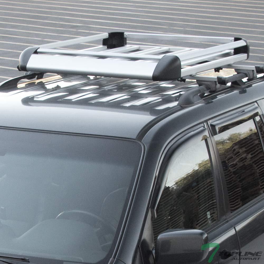 BLACK ROOF RACK BASKET CAR TOP CARGO BAGGAGE CARRIER STORAGE w//WIND FAIRING T01