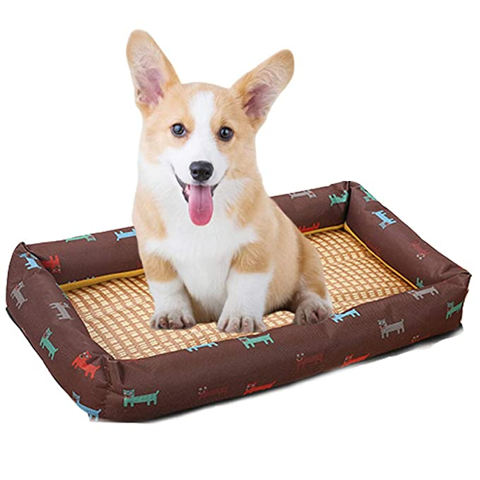 Amazon.com: ZDJR Dog Bed, Soft Crate Pad Mat, Non-Slip ...