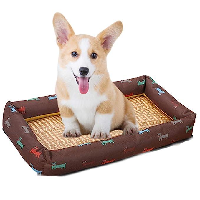 Amazon.com: ZDJR Dog Bed, Soft Crate Pad Mat, Non-Slip ...