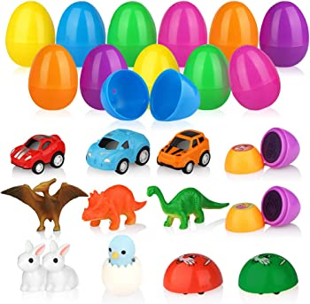 12-Pack Baztoy Easter Eggs with Surprise Mini Toys