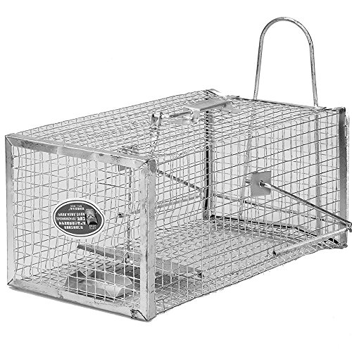MTL 1 Door Live Animal Cage Trap - 205X275X125MM - Catch Mouse ,Rat, Rodent, Mice, Hamster, Weasel, Gopher and More Small - Trap Cage Live Animal