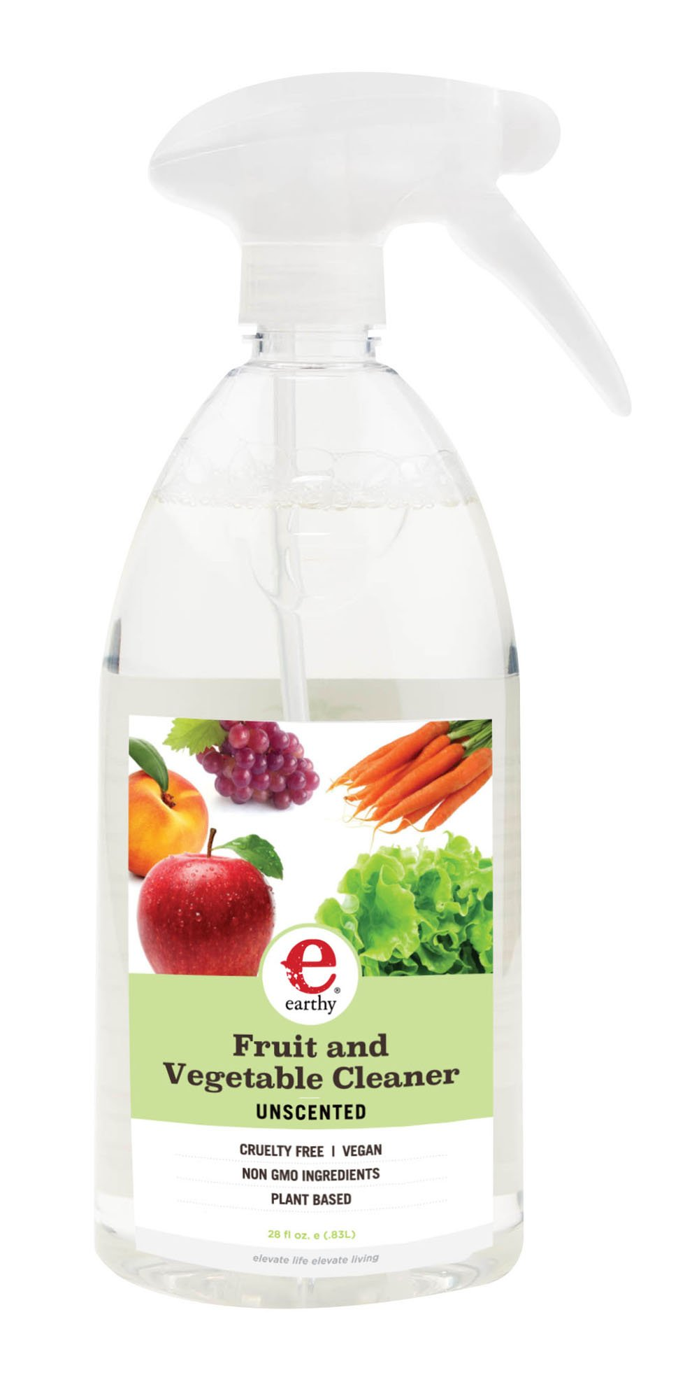 Earthy Natural Fruit & Vegetable Cleaner, Unscented, 28 Ounce (Pack of 6)