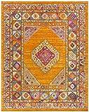 Cheap Safavieh Madison Collection MAD133D Orange and Fuchsia Bohemian Chic Medallion Area Rug (9′ x 12′)