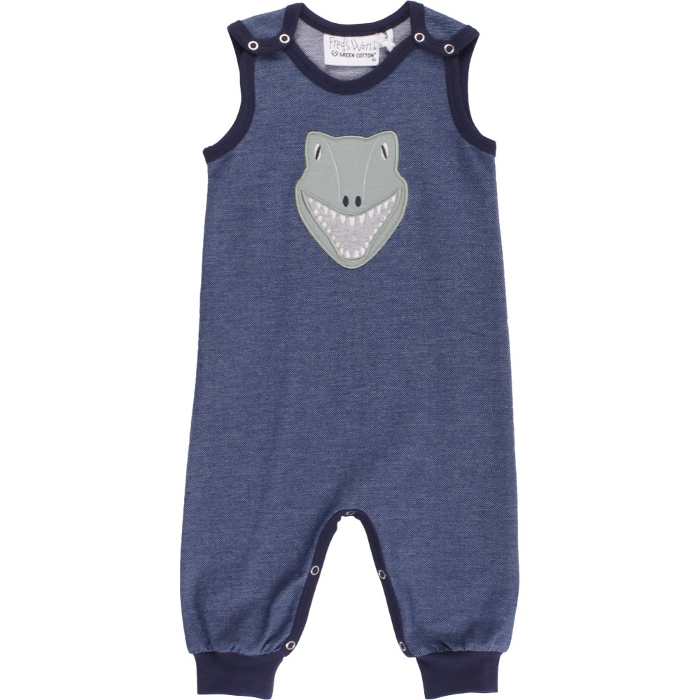 Fred's World by Green Cotton Baby-Jungen Spieler Dino Denim Romper Blau 019402601 86 Fred' s World by Green Cotton 1584028100