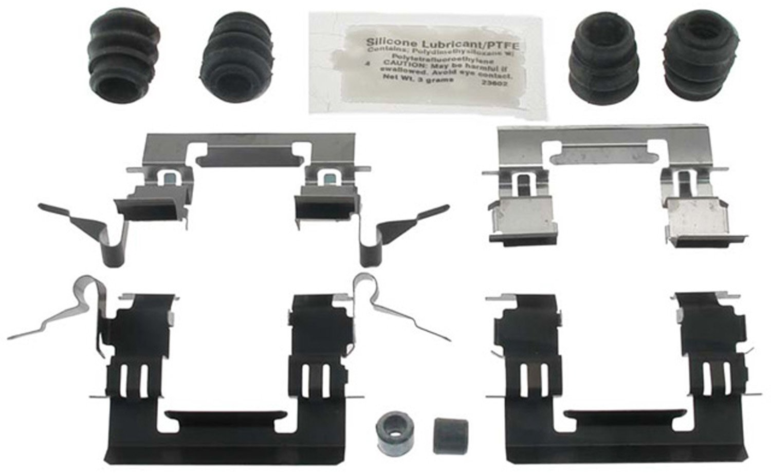 ACDelco 18K1995X Professional Front Disc Brake Caliper Hardware Kit with Clips, Seals, Bushings, and Lubricant