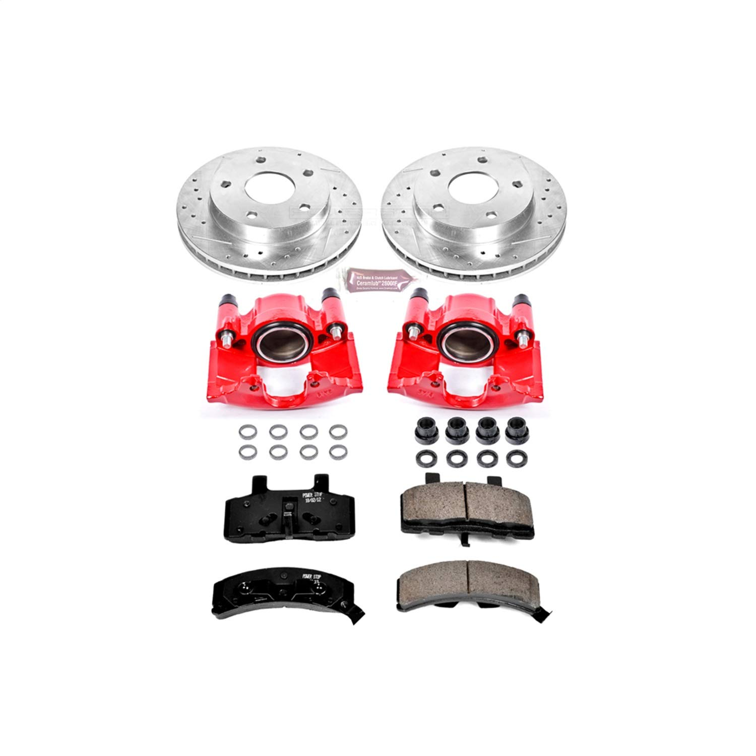 Front Only Power Stop KC2126 1-Click Performance Brake Kit with Caliper