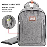 Savvy Nomad Diaper Bag Backpack with Changing Pad & Stroller Straps,Multi-Function Waterproof Baby Travel Nappy Bags for Mom & Dad - Large Capacity, Durable and Stylish-Gray