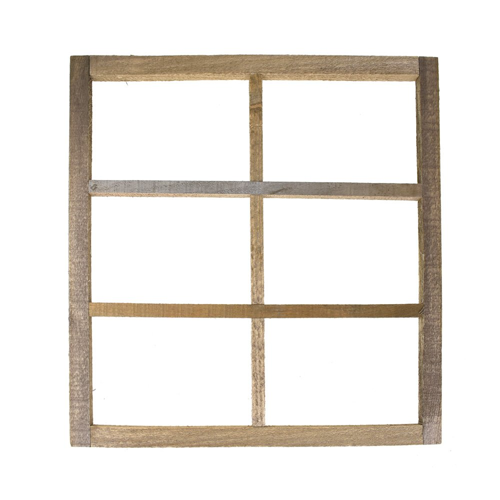 Homeford Miniature Wooden Six Panel Window Frame, 22-Inch