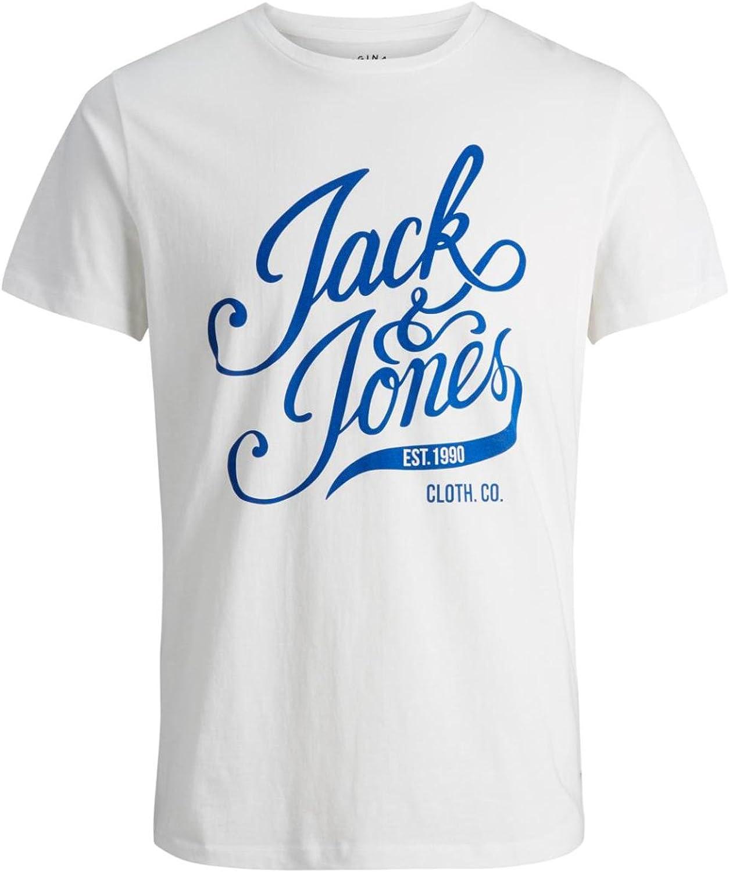 JACK & JONES Hombre Originals Blog Camiseta Lt Gris Marl XXL ...