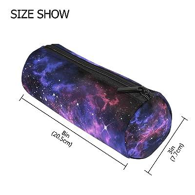 Estuche para lápices Vinlin con diseño de galaxia y estrellas, multifuncional, con cremallera, ideal para la escuela o la oficina: Oficina y papelería