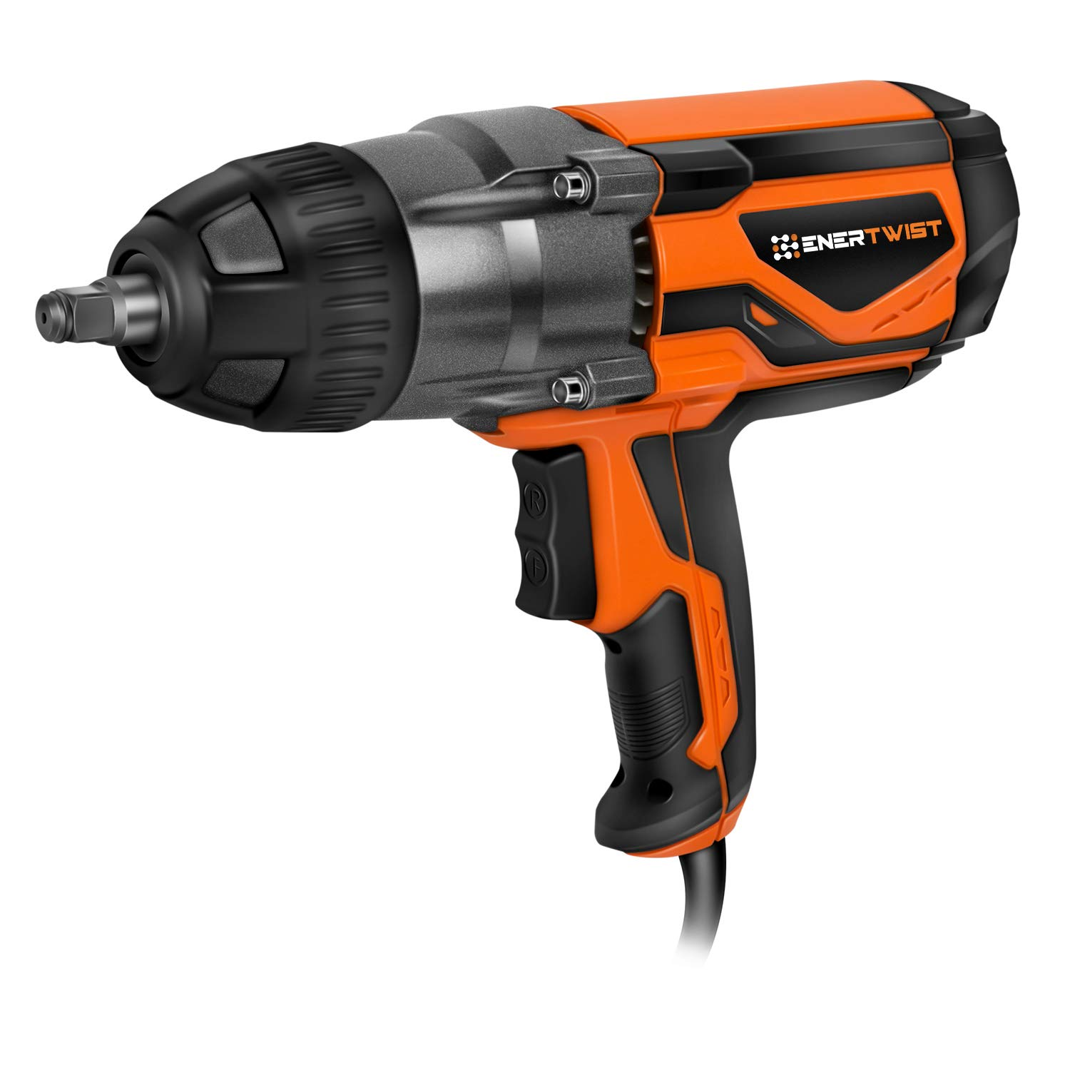 EnerTwist 8.5 Amp 1/2'' Impact Wrench Corded Electric with Hog Ring Anvil, ET-IW-1020