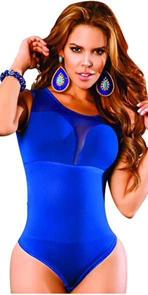 Aranza Womens Body Shaper Blouse Blusa Fajas Colombianas Ab Control Blue X-Large