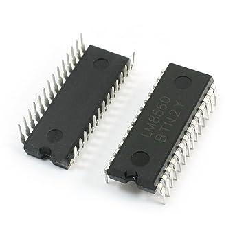 2 PC LM8560 28-pin DIP28 Montaje de alarma de reloj digital Chip IC