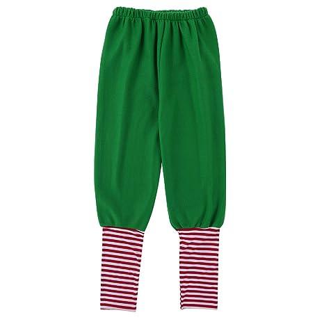 3fb30c66f YiZYiF Disfraz Infantil para Navidad Unisex Niños Dsifraces de Elfo Traje  de árbol Vestido Top Blusa + Sombrero Disfraz de Santo Equipo del Duende  4-14 Años ...