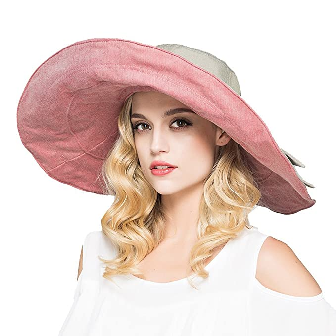 Women Fashion Summer Beach Hat Ladies Large Wide Brim Anti-UV Hat Foldable Sun  Hat fec6d46b4f13