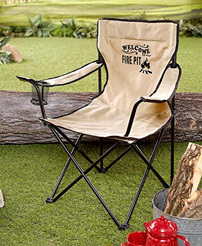 (The Lakeside Collection Campfire Folding Chair)