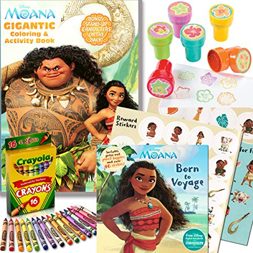 Disney Moana Coloring & Activity Book with Moana Stickers, Crayons and Stampers