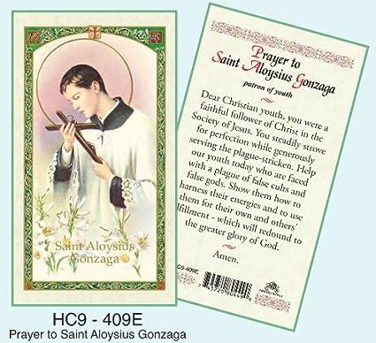 Amazon Com St Aloysius Gonzaga Laminated Prayer Cards