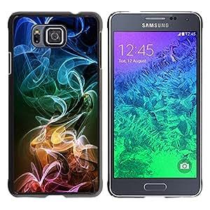 TECHCASE**Cubierta de la caja de protección la piel dura para el ** Samsung GALAXY ALPHA G850 ** Smoke Colorful Art Stripes Pattern Wallpaper