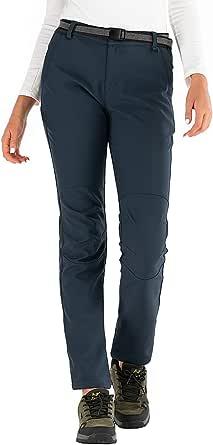 BenBoy Pantalones de Nieve Montaña Mujer Impermeables Invierno Calentar Pantalones Trekking Escalada Senderismo Esquiar Softshell