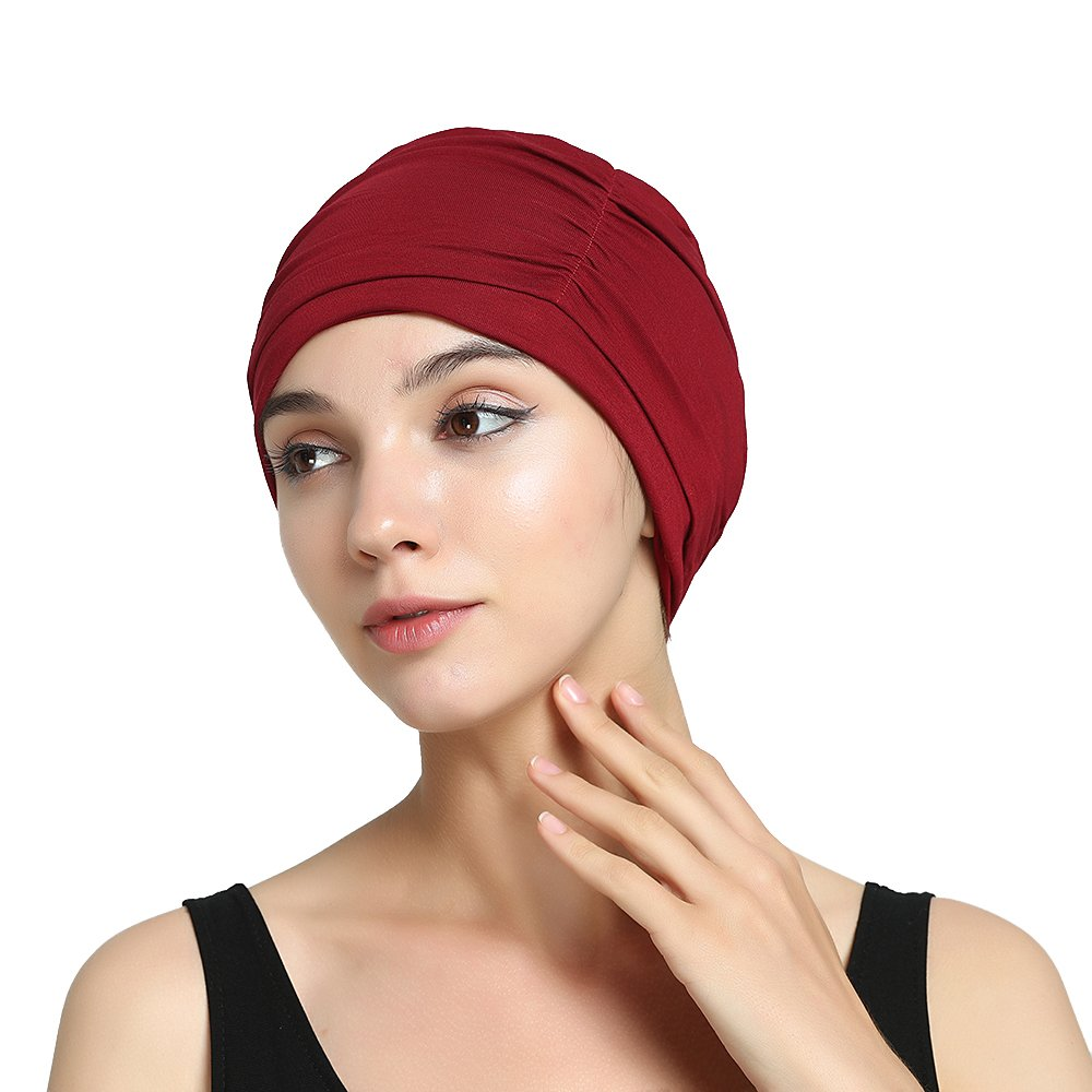 Dark Red Bamboo Chemo Hat