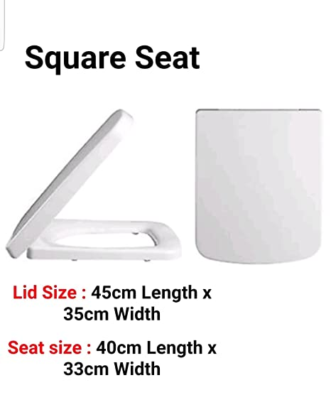 uk toilet seat sizes accnyc tc square toilet seat seat amazoncouk kitchen home