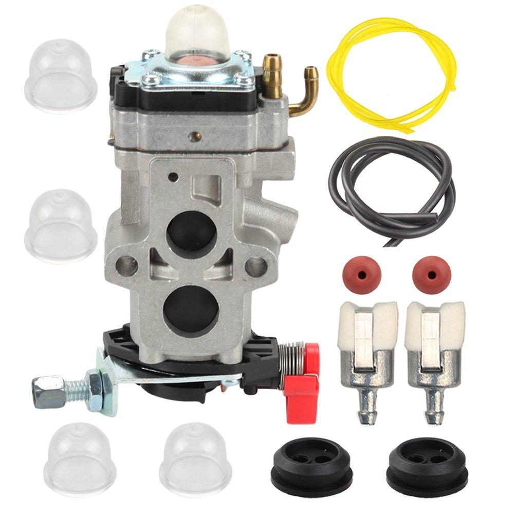 Butom WYA-79 Carburetor with Fuel Line Filter Grommet for Husqvarna 350BT 150BT Backpack Leaf Blower 581177001