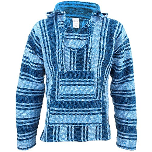 SiestaHerren Kapuzenpullover Blau Hellblau