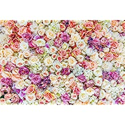 AOFOTO 10x7ft Beautiful Wedding Floral Backdrop Sweet Flower Romantic Roses Party Decor Photography Background Girl Lovers Bridal Shower Artistic Portrait Activity Photo Studio Props Vinyl Wallpaper