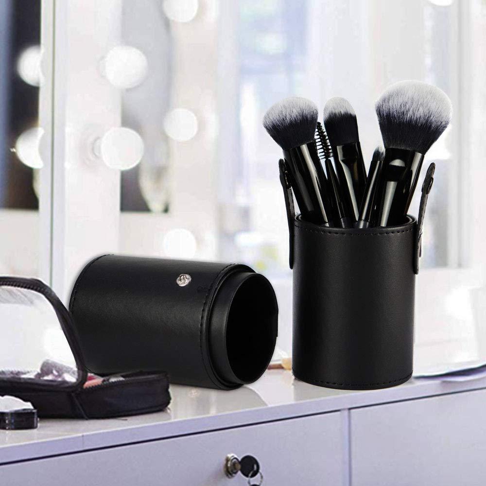 Beginners and Professional Essential Makeup Brushes, 7 Pcs KOKOBI Super Soft Bristles, Foundation, Blush, Nasal, Eyeshadow/Concealer, Eyebrow, Eyelash, Powder Liquid Cream Blending Make up Brush Set