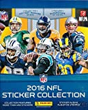 2016 Panini NFL Football Stickers HUGE 72 Page Collectors Album with 10 MINT Stickers including Paxton Lynch & Derrick Henry Rookies! Great Football Collectible to House your New NFL Stickers !