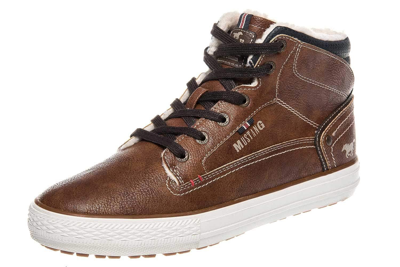 Mustang Shoes High Top Sneaker in Übergrößen Kastanie 4129