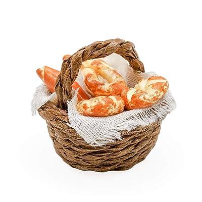 Odoria 1:12 Miniature Bread Basket Dollhouse Kitchen Accessories: Toys & Games