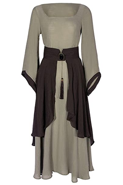 Amazon.com: DIFFERONE - Vestidos medievales vintage, estilo ...