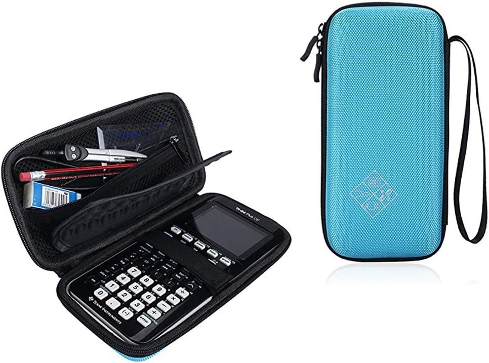 Esimen Hard Case for Texas Instruments TI-84 / Plus CE TI-83 Plus Graphing Calculator Travel Bag Protective Pouch Box -Extra Room for Pen and Accessory
