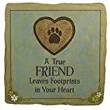 "Cement Stepping Stone – ""A True Friend leaves Footprints in your Heart"" For Sale"