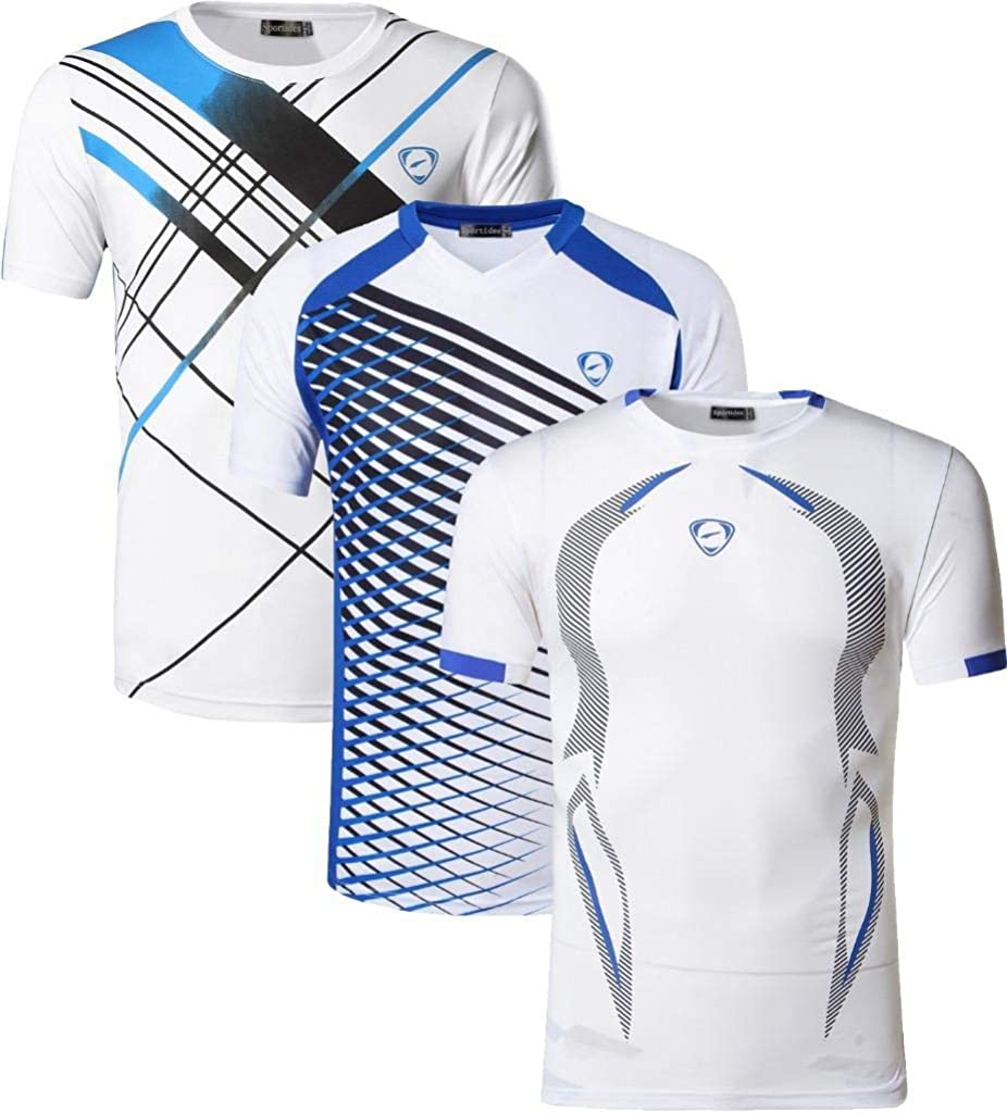 Sportides Boys Quick Dry Active Sport Short Sleeve Breathable T-Shirt Tee Top LBS701/_Pack