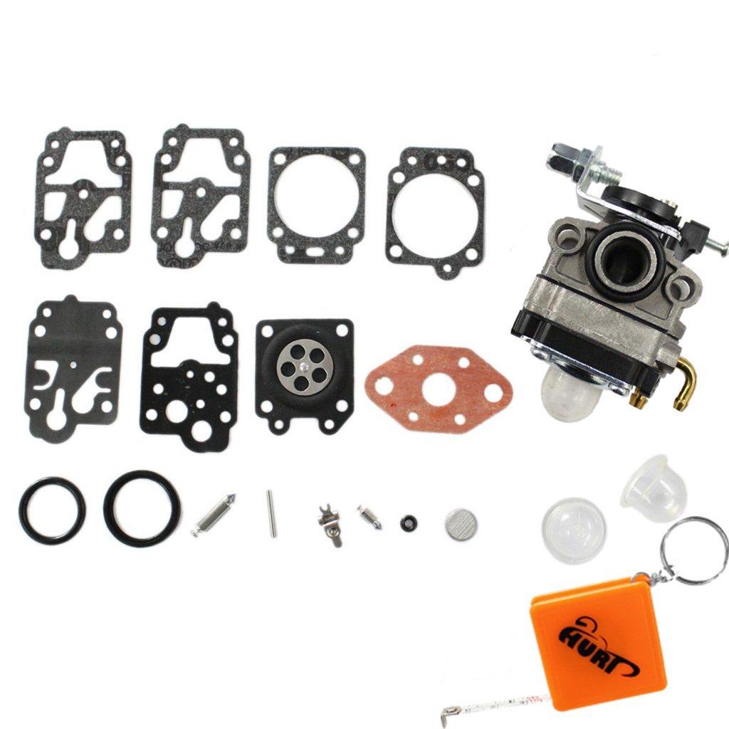 HURI Carburateur avec Carb Reparation Membrane Joint pour Moteur Honda GX22 GX31 Coupe-bordure D/ébroussailleuse HHE31C HHT31S UMK431 UMK431K1