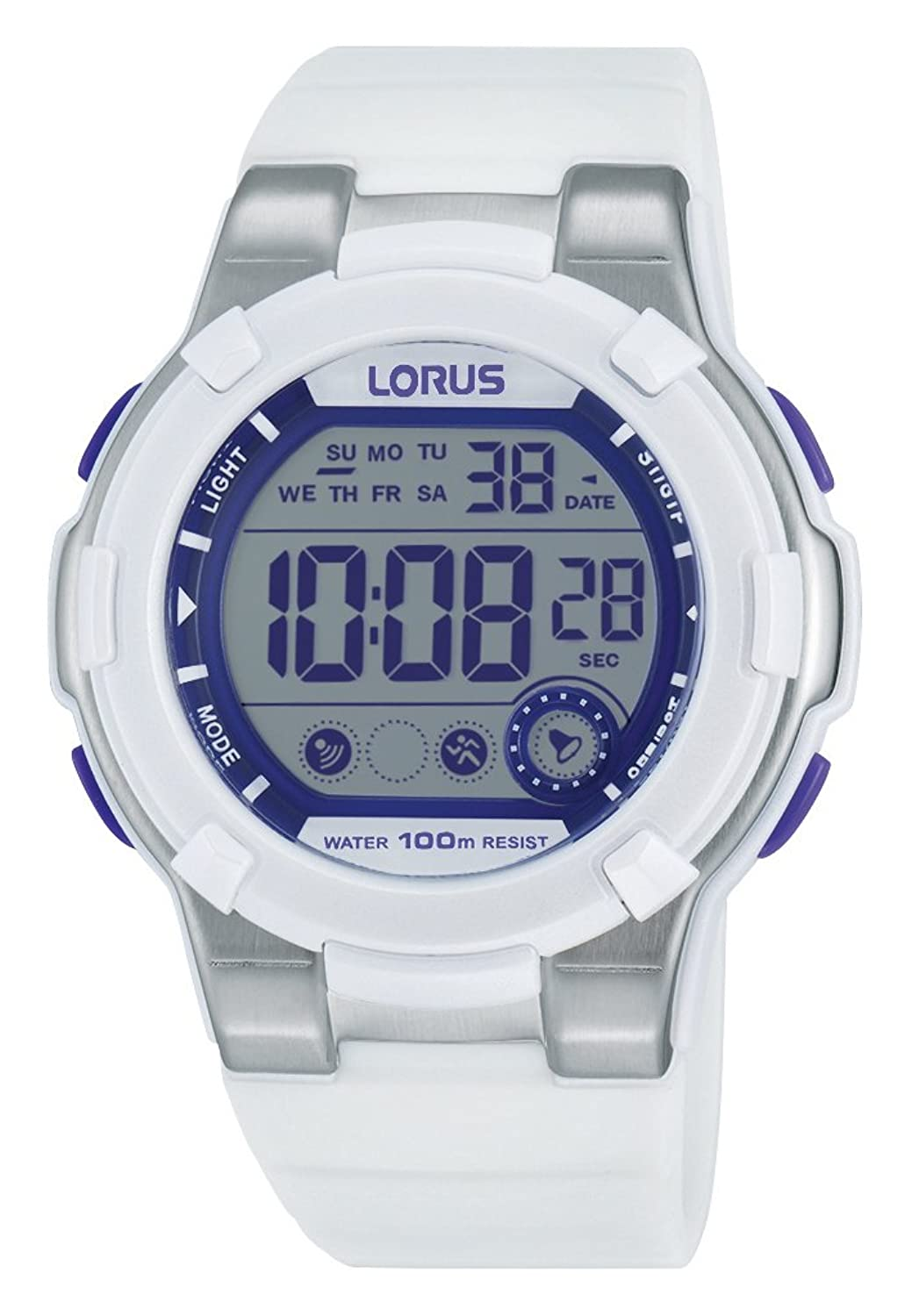 Lorus Watches Damen-Armbanduhr Sport Digital Quarz Kautschuk R2359KX9