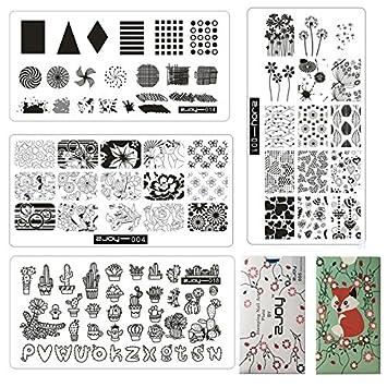 Amazon.com: 4pcs/set Calidad Premium Nail Art Sello ...