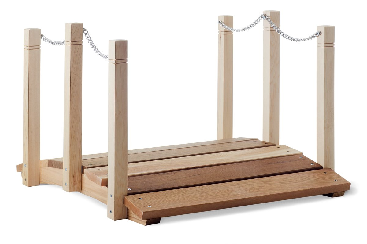 All Things Cedar Garden Foot Bridge with Hand Rails, 2'